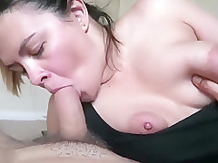 A Chick Sucks And Rides Cock