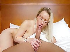 Teen Handles A Large Dick