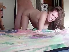 Kinky teen couple fucking in her bedroom